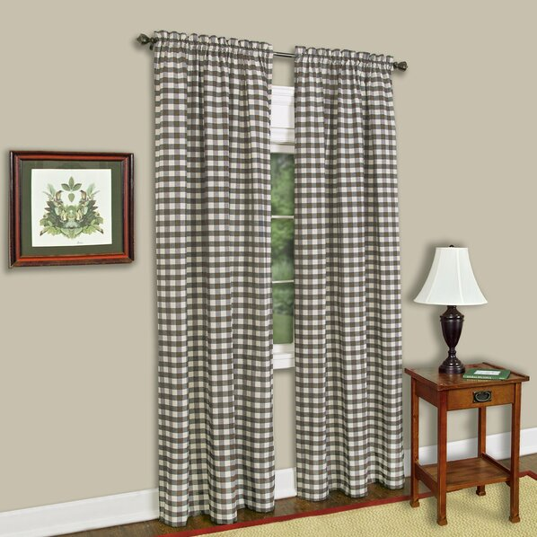 Checkered curtain