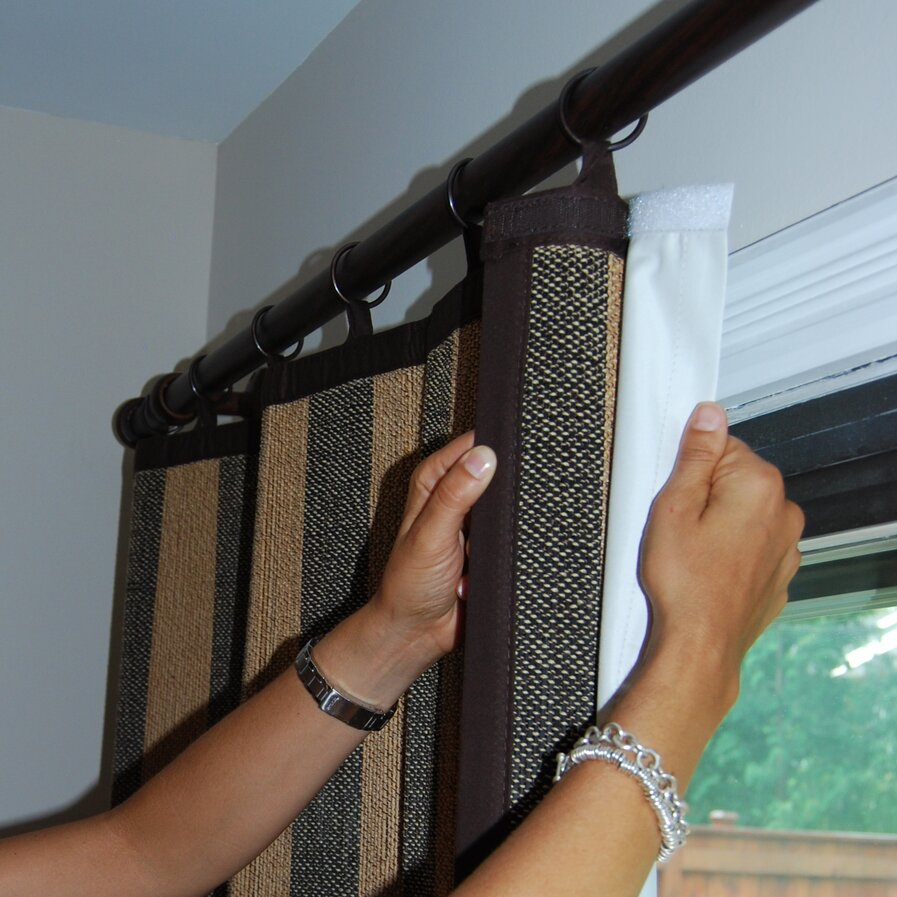 Curtain panel liner