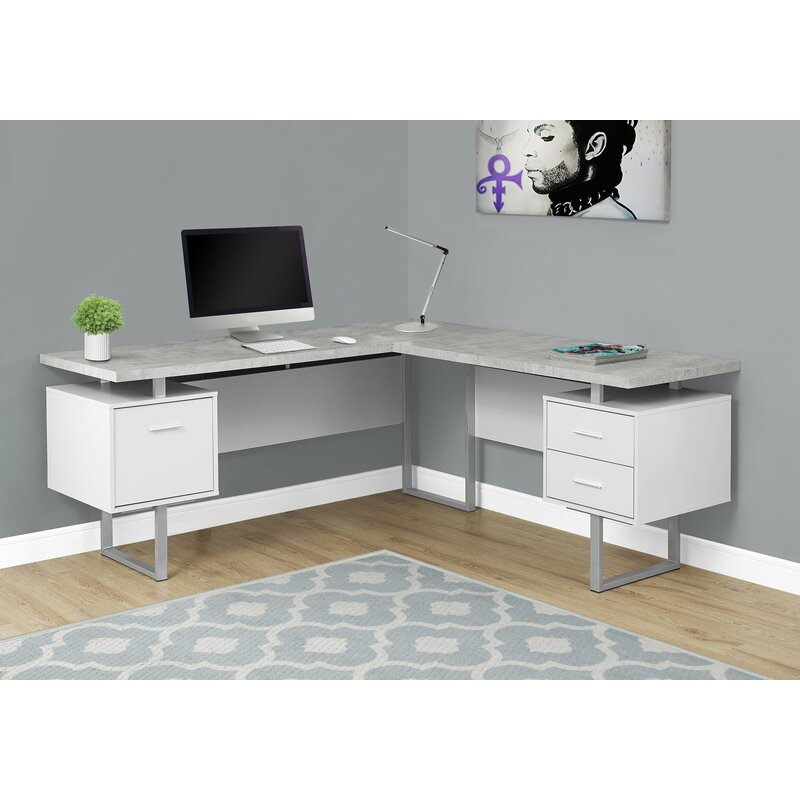 Latitude Run Darroll L-Shape Corner Desk & Reviews | Wayfair