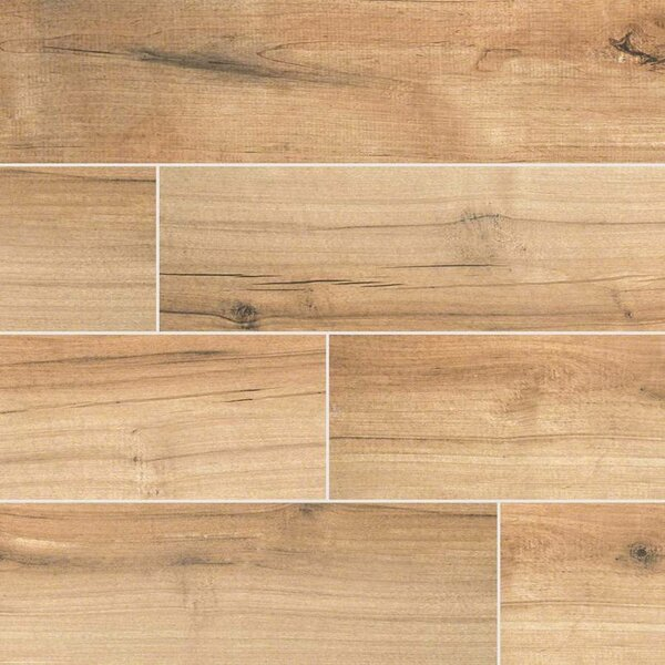 Porcelain tile wood look flooring