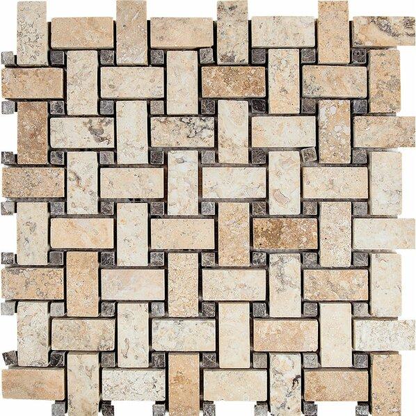 Basketweave tile backsplash