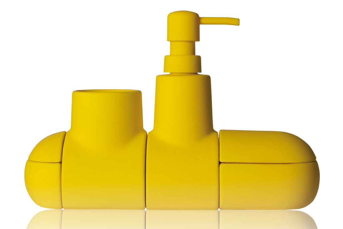 Yellow bathroom accessories sets