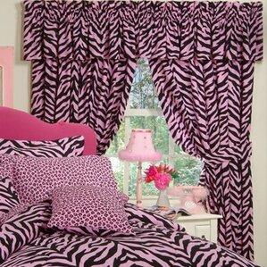 Pink zebra curtains