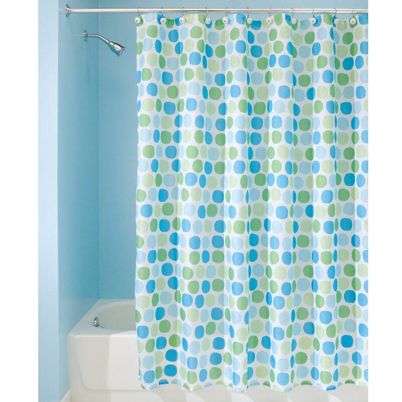 Shower curtain green