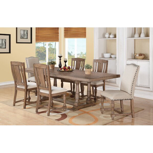White upholstered dining