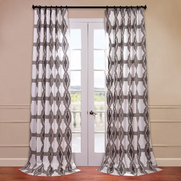 Gray curtain panels