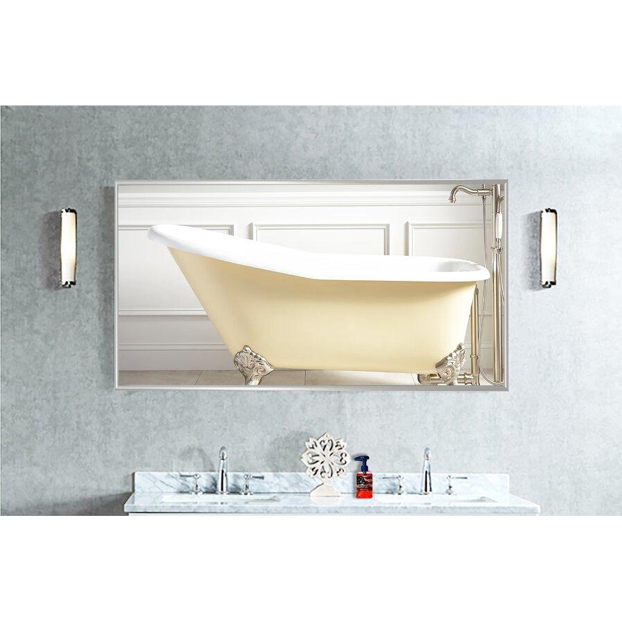 Double wide bathroom mirror
