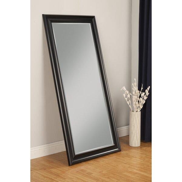 Long black wall mirror