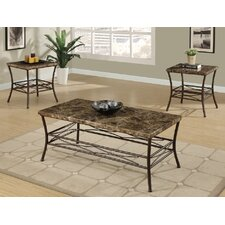 Reviews Jofran Double Header Mobile Coffee Table Set