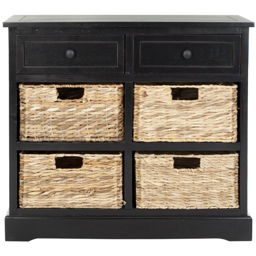 6 drawer chest black