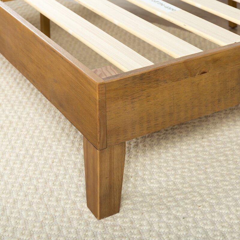 Amazoncom eLuxurySupply Wood Bed Frame  Made in The USA