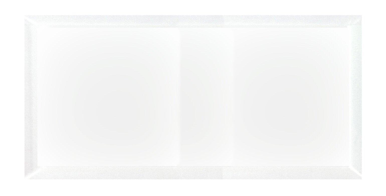 Matte white subway tile