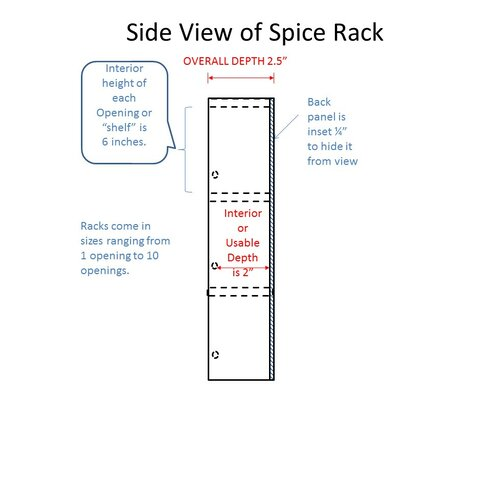 picture WG Wood Products Midland Premium Spice Rack MID-669- Finish: Medium Brown