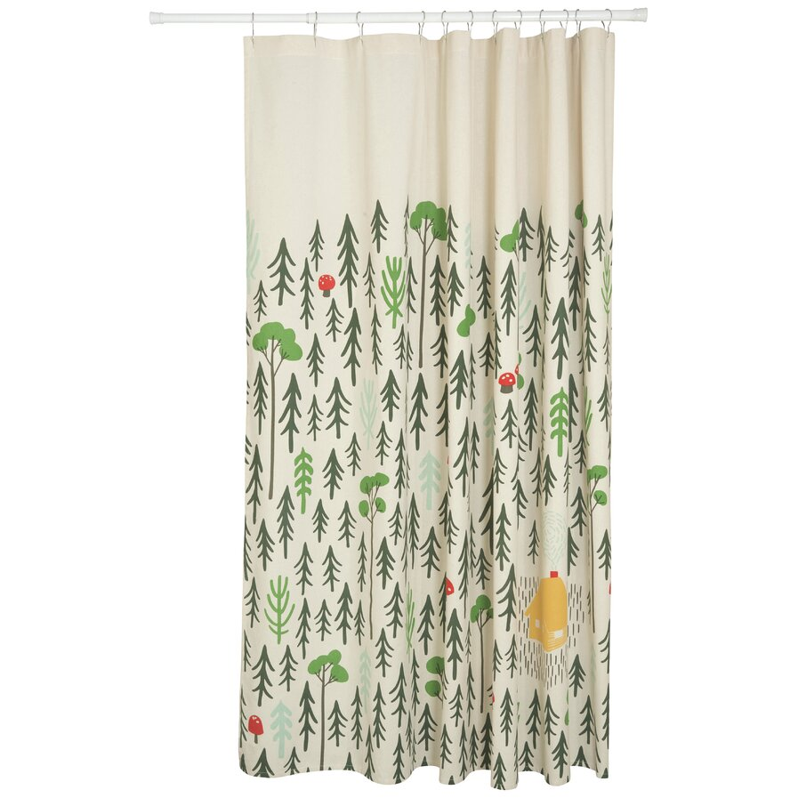 100 cotton shower curtain 2