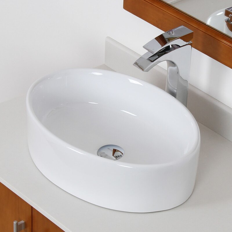 Oval bathroom sinks
