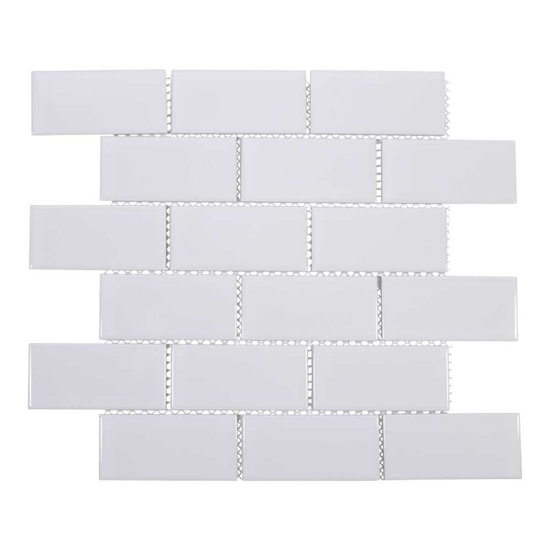 2 x 6 white subway tile
