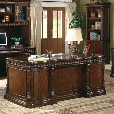 Astoria Grand Fast Drawers Executive Desk & Reviews | Wayfair