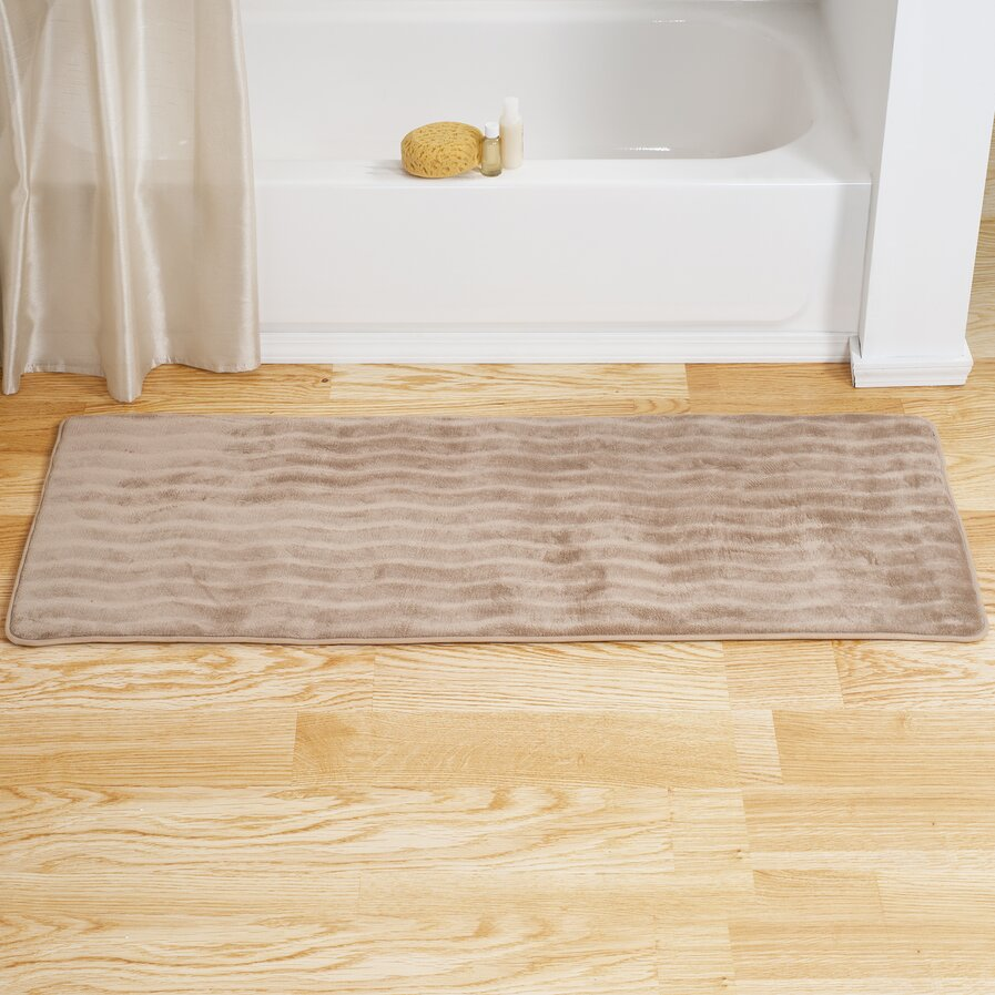 Memory foam bathroom rugs
