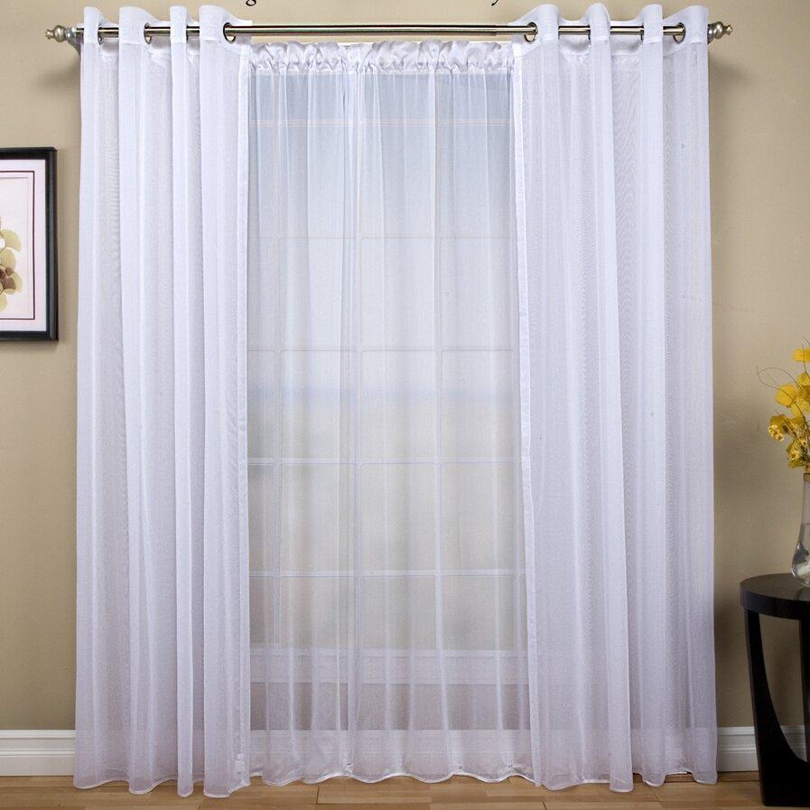 Curtain double rod