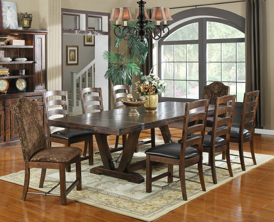 Dining room table extendable