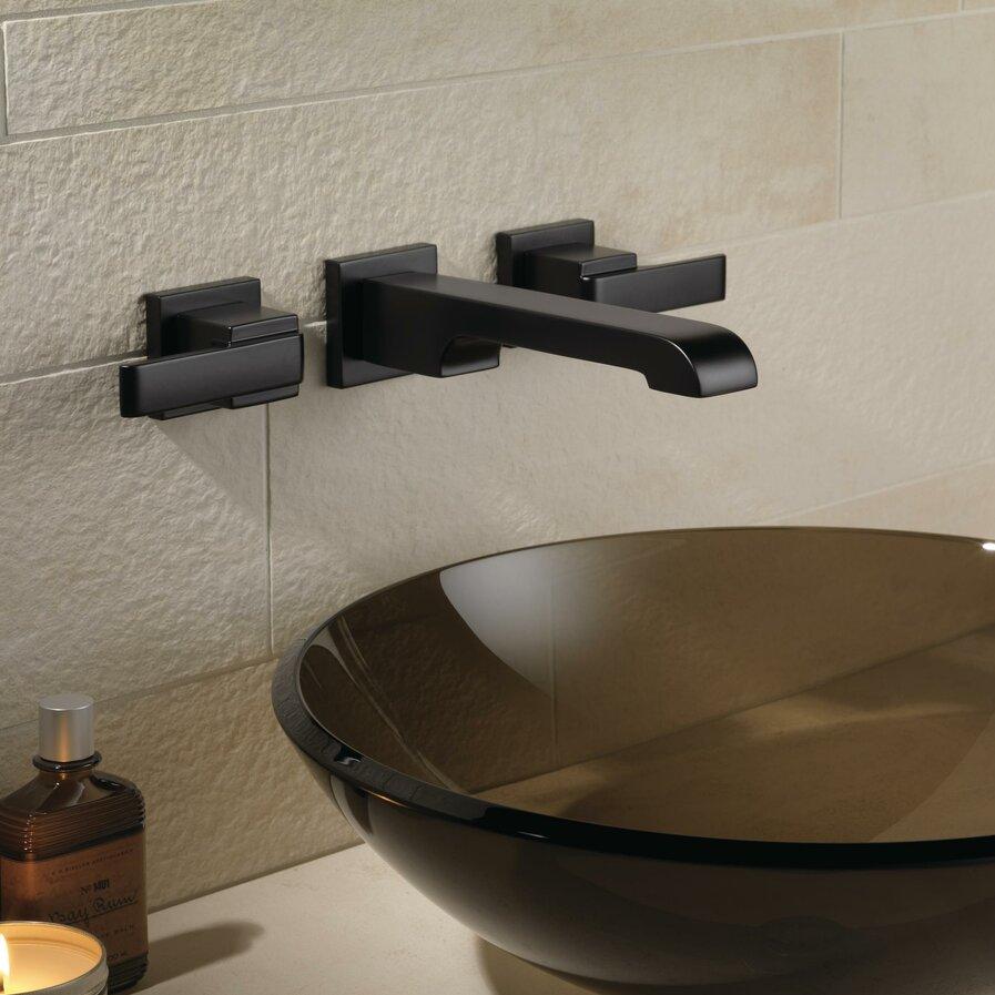 Bathroom wall faucets