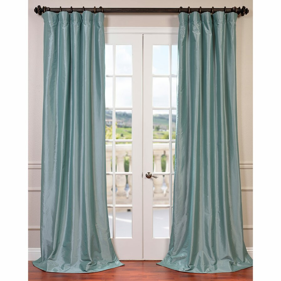 Copper coloured curtains