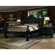 Liege Eastern King Panel Bed With Cabriole Eastern Legends
