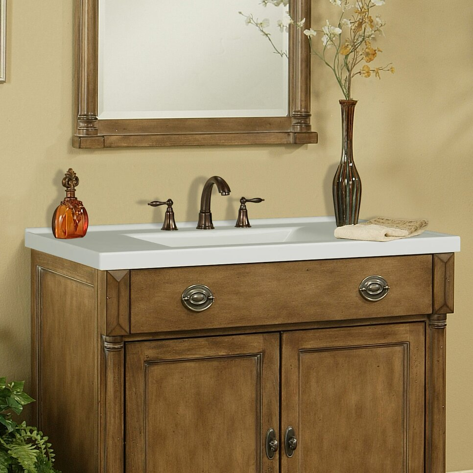 Bathroom vanity with marble top