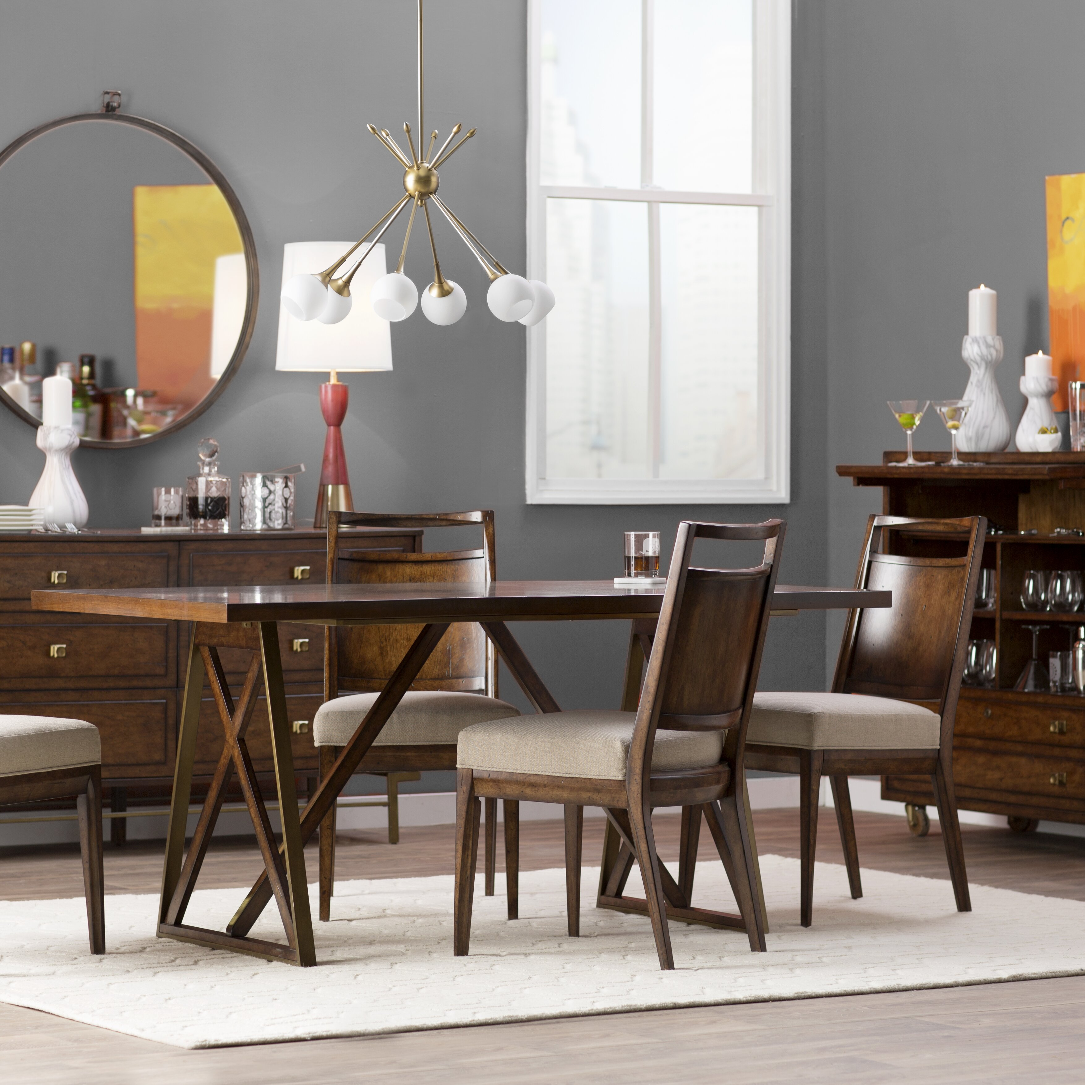 Mirror dining room tables