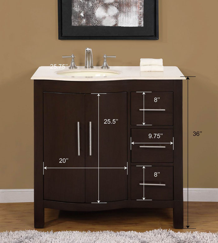 Andover Mills Bissette Single Bathroom Vanity Set Reviews - Bathroom vanity 20 inches wide