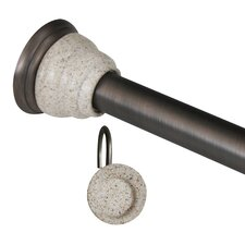 Milos 72' Adjustable Straight Tension Shower Curtain Rod & Hook Set
