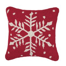 Melody Rustic Snowflake Wool Throw Pillow