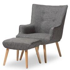 Manuella Arm Chair & Ottoman