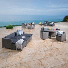 Morales Wicker 17 Piece Deep Seating Group with Cushion