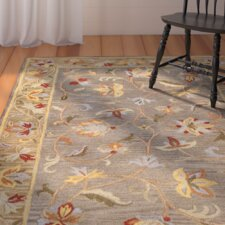 Lulu Gray Floral Wool Hand-Tufted Area Rug