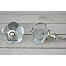 Melon Glass Crystal Knob (Set of 2)