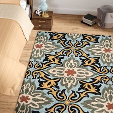 Morell Hand-Tufted Wool Blue Area Rug