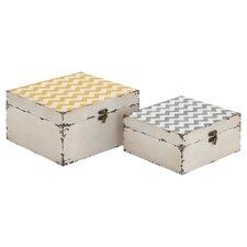 Melody Engineered Wood 2 Piece Box Set