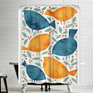 Birds Single Shower Curtain