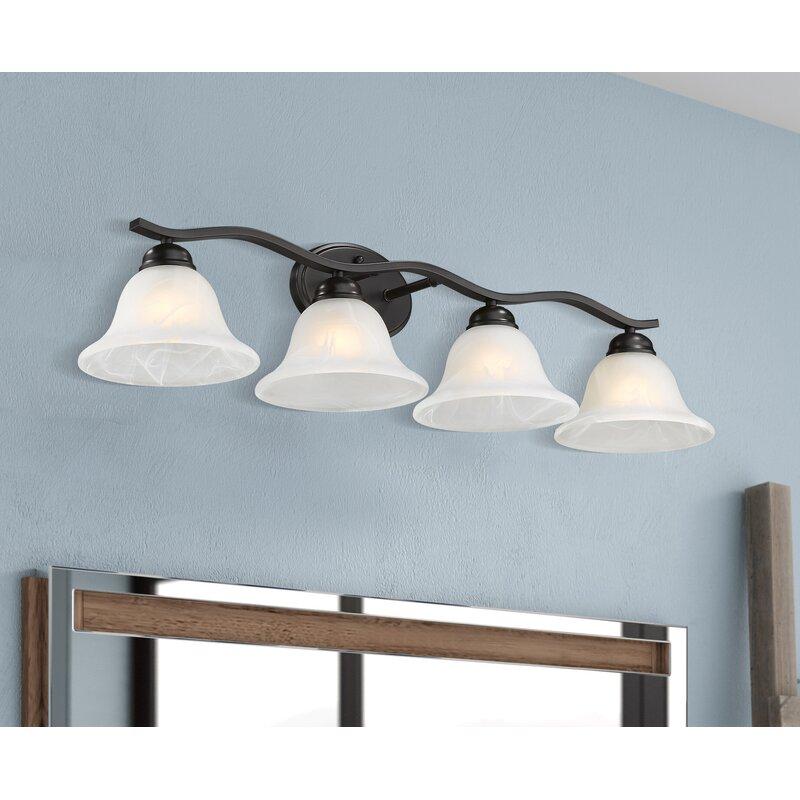 Charlton Home Ambra 4 Light Oil Rubbed Bronze Vanity Light Wayfair