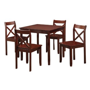 Flossmoor 5 Piece Dining Set Charlton Home