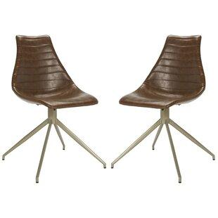 Sébastien Swivel Side Chair (Set of 2) by 17 Stories