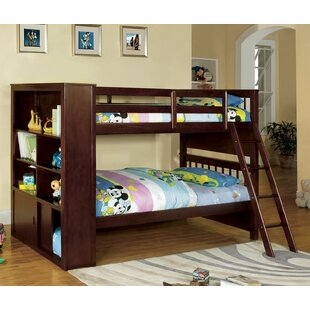 Fauntleroy Twin Over Twin Bunk Bed With Bookcase by Harriet Bee Find