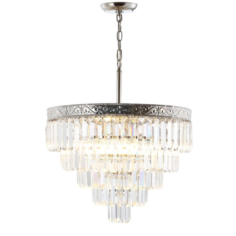 Crossett 8 Light Crystal Chandelier And Reviews Joss And Main
