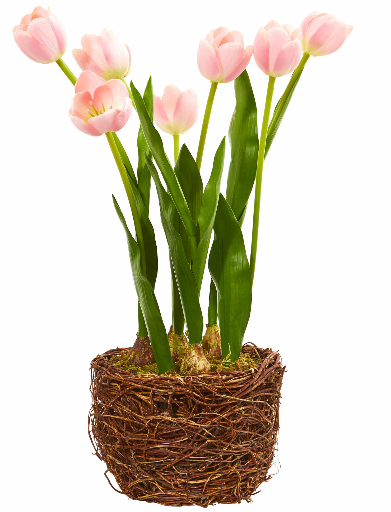 Artificial Tulips Centerpiece In Vase