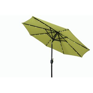 Billy Deluxe Solar Powered LED Lighted 8' Market Umbrella