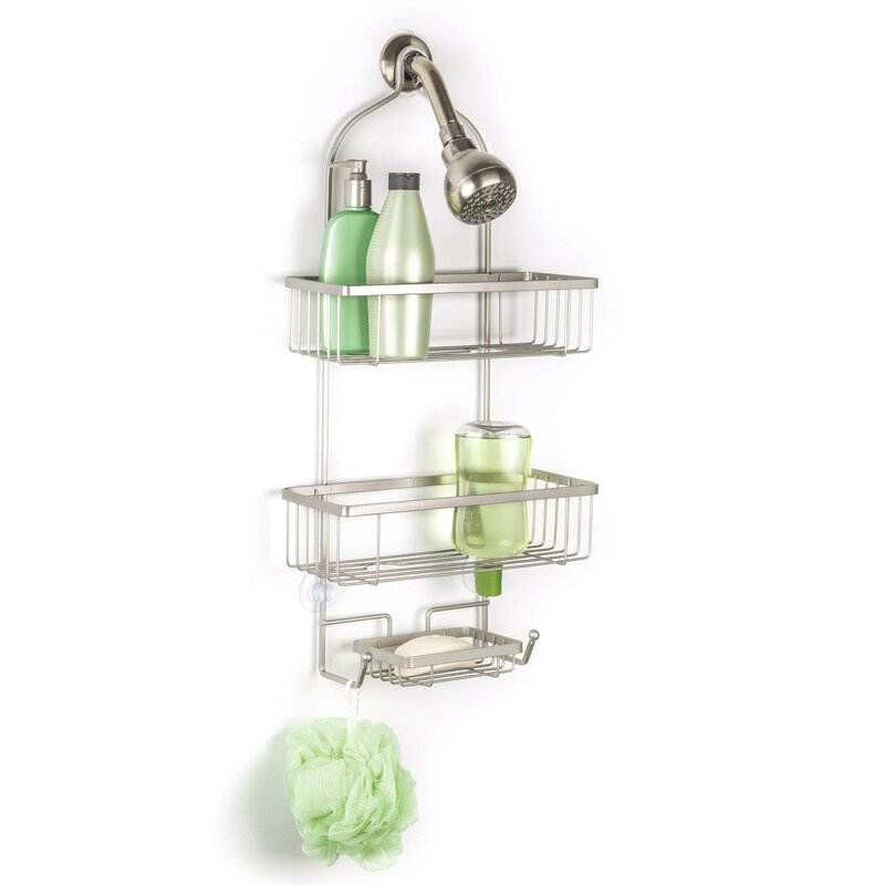 Rebrilliant Axel Over the Shower 2 Tier Deluxe Shower Caddy with ...