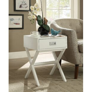 Aviana End Table with Storage Ebern Designs