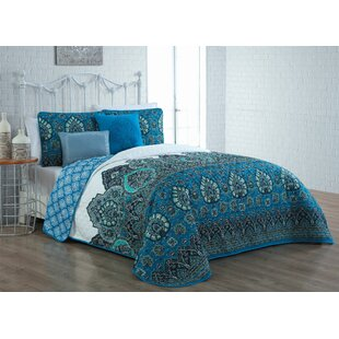 Sander 5 Piece Reversible Quilt Set