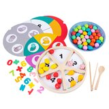 1 Set Fruit Recognition Toy Clip Beads Toy Preschool Plaything For Children